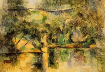 Reflections in the Water Paul Cezanne Landscapes river Oil Paintings